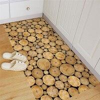 이동식 비 슬립 바닥 스티커 라운드 나무 패턴 자체 접착