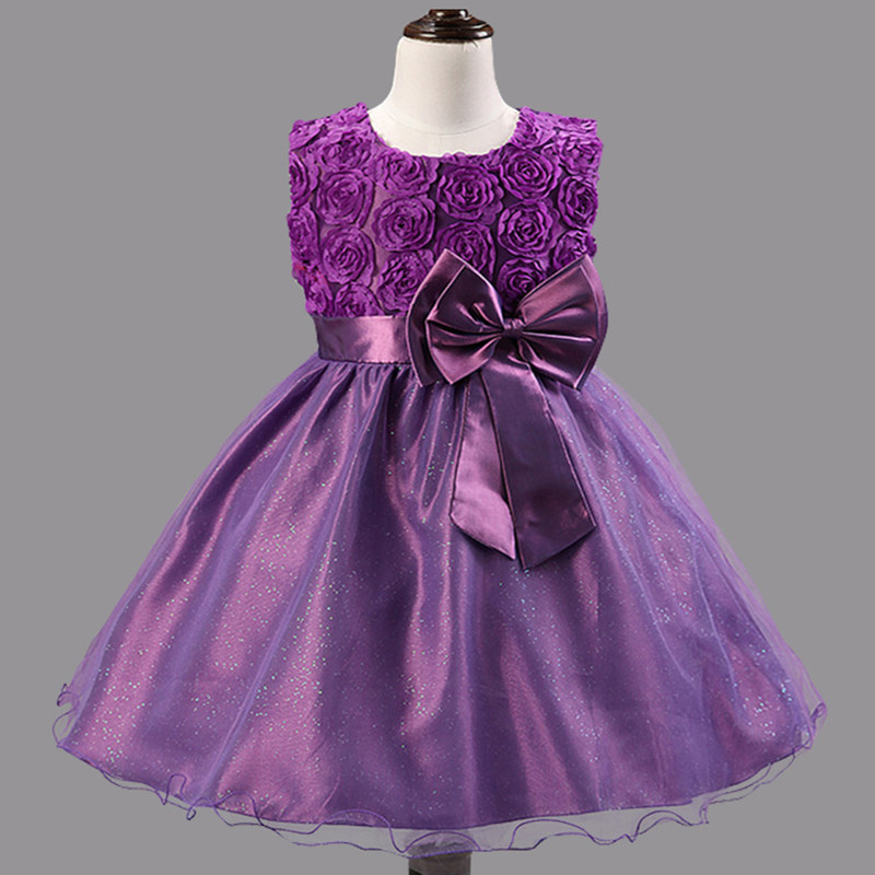 Girls 3D Flower Wedding Bridesmaid Party Dress Age 2 8 Years-in ...
