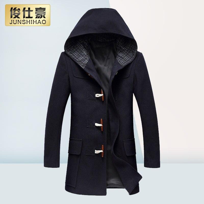 Winter Wool Coat Men Fashion Horn Button Designer Wool Jacket Men ...