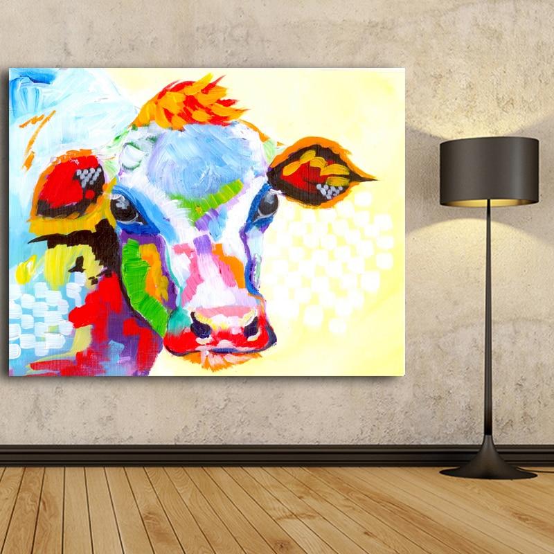 Berėmiai paveikslėliai Abstraktus karvės spausdinimas Tapyba - Namų dekoras - Nuotrauka 5