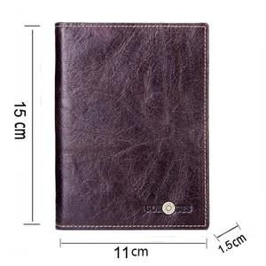 Image 2 - CONTACTS Casual portafoglio per passaporto maschile in vera pelle porta carte di credito per uomo porta passaporto per uomo con tasche per monete da viaggio