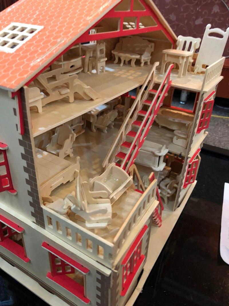 Casa de bonecas diy em miniatura móveis