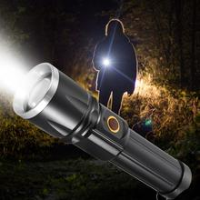 LED USB Charging Portable Torch Aluminum Alloy Flashlight for Camping Emergency Hunting flashlight bicycle