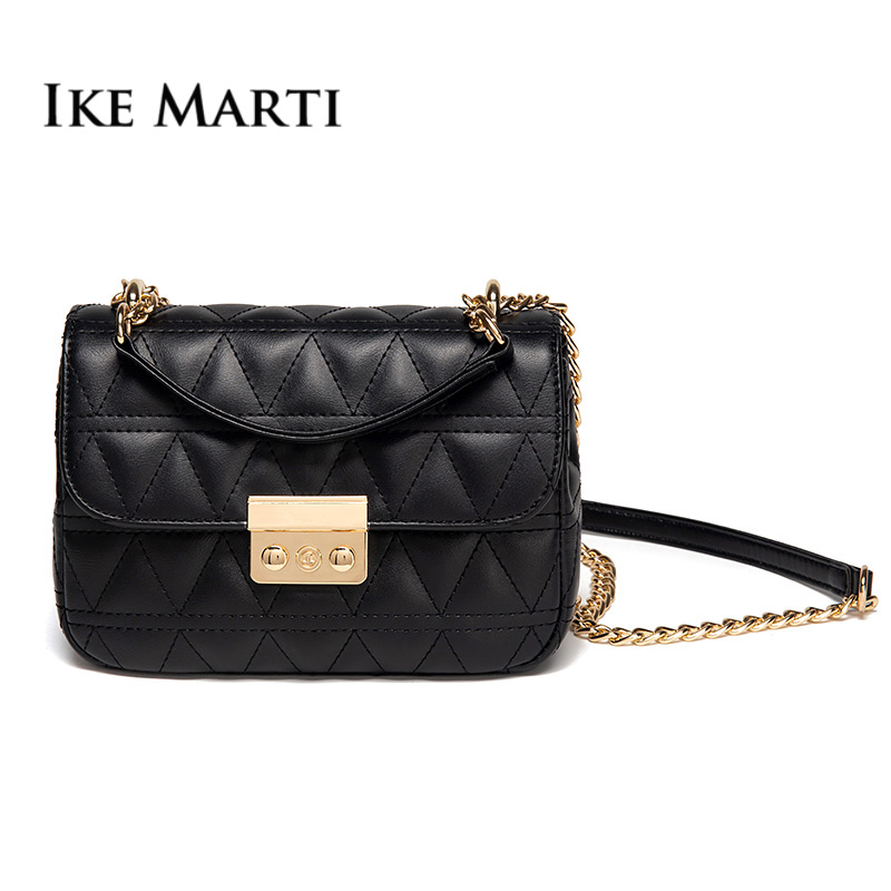 Womens Ladies Luxury Classic Collection Gold Chain Shoulder Bag Handbag