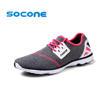 Socone Women Running Shoes New 2016 Breathable Summer Athletic Shoes Ladies Cross Training Sport Shoes Lightweight Men Shoes