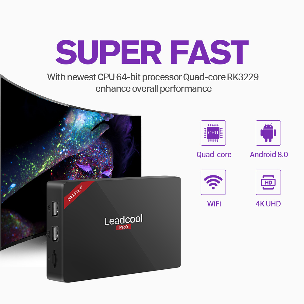Image 4 - Leadcool Pro Android 8.1 TV Box Iptv France 4k RK3229 With 1 Year SUBTV Iptv Arabic Italian Spain Netherlands Uk Subscription-in Set-top Boxes from Consumer Electronics