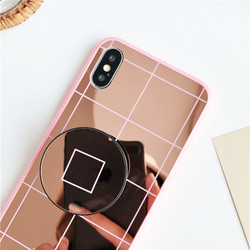 Luxury Fundas Phone Case for iPhone Xs Max Xr Mirror Case 2018 Soft TPU Protector Case iPhone Xs 6 6s 7 8 Plus Back Cover 4