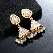 Elegant Water Drop Bollywood Gold White Jewelry Indian Pearl