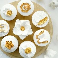Имитация кекса Опора Золотой Кубок Имитация торта помадка торт латунный элемент