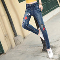 Brand New Denim Jeans Femme Slim Casual Women Plus Size Pencil Jeans Trousers Blue MYNZ57