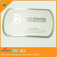 Stainless Steel Metal Business Cards Manufacturer With 4 4 Printing