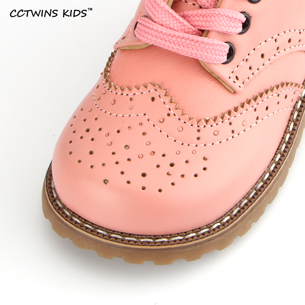 CCTWINS-KIDS-2017-spring-autumn-child-pink-flat-genuine-leather-toddler-fashion-shoe-baby-girl-brand-loafer-oxford-white-G9771-3