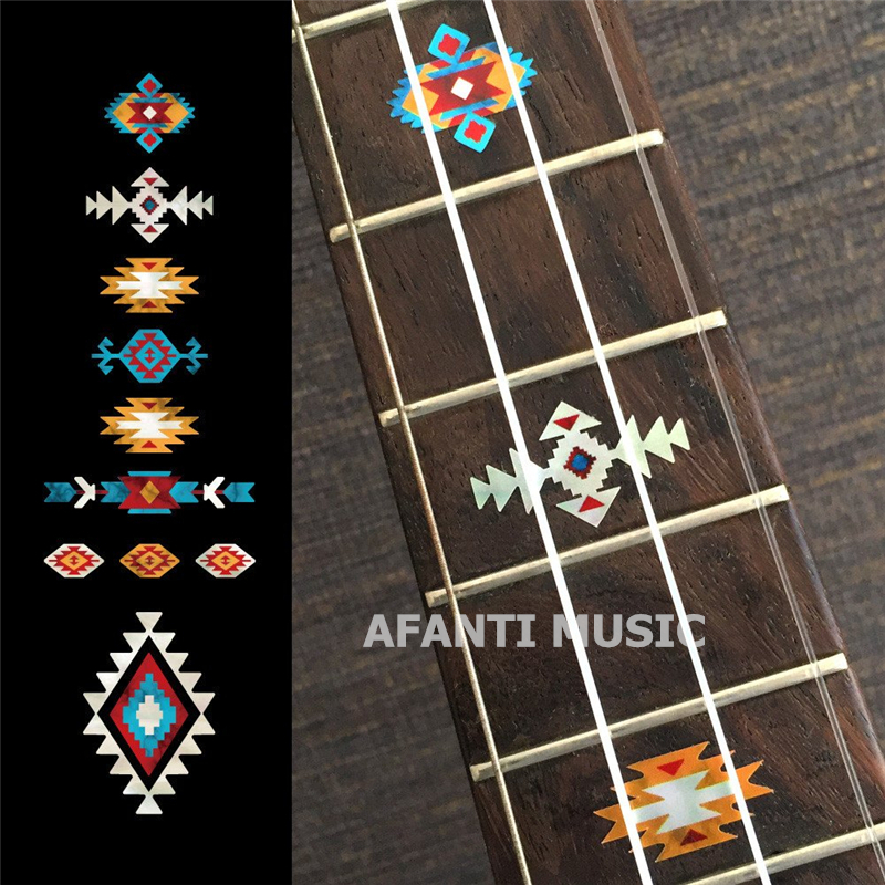 Afanti music Guitar Finger Board sticker / Shell sticker Inlay (FPD-134) yibuy 2pcs inlay colorful guitar head veneer shell sheet new