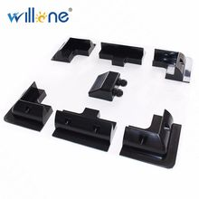 Willone Free Shipping 2 Lot 7PCS ABS PV Panel Solar Mounting Structure black