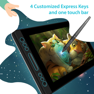 Image 3 - HUION Kamvas Pro 13 GT 133 Tilt Support Battery Free Pen Graphic Drawing Tablet Display Monitor with Express Keys and Touch Bar
