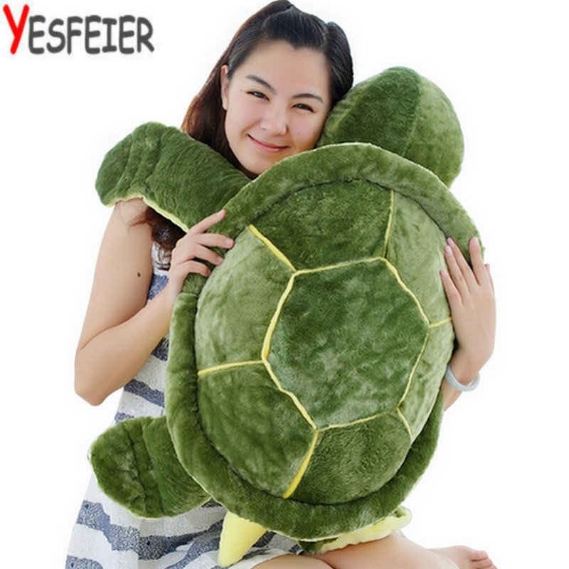 Huge Size Plush Tortoise Toy Cute Turtle Plush Pillow Staffed Cushion for Girls Vanlentines Day Gift 40-90cm