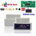 Mejor PCB 25K80 Super MINI WIFI ELM327 V1.5 Soporta Todos Los Protocolos OBD2 DEL OLMO 327 WIFI Para iOS/Android Torque/PC OBDII Coches escáner