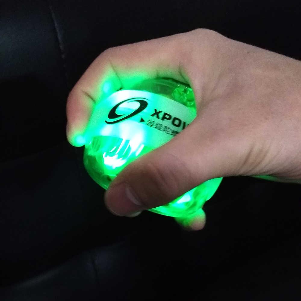 12000 об/мин 30LBS светодиодный сила запястья шарик усилителя гироскоп Мощность ПВХ предплечья Скорость Счетчик ручной Спиннер сила мяч 6 цветов E