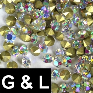 Ss11.5-ss25 Crystal AB Color Pointback Rhinestones Glass Material Beads Used For Jewelry Nail Art Decoration сковорода rondell weller 20см алюм