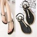 Más el tamaño 34-43 mujer sandalias 2016 nuevas lentejuelas sandalias chanclas zapatos sandalia plana