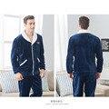 2016 de invierno pijama de franela para los hombres homewear salón grande hembra niñas pijama establece pareja del amante pijamas calientes