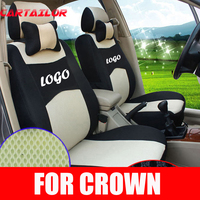 CARTAILOR sport seat covers for TOYOTA CROWN car seat cover sandwich car seats protector inner accessories ventilated cushions