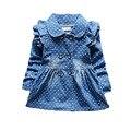 Новые Весной Новорожденных Девочек Dress Полная Длина Denim Детская Одежда Высокого Качества Джинсы Dress Девочка Для Одежда для Новорожденных Платье