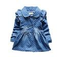 Newest Spring Baby Girls Dress Full Length Denim Infant Clothing High Quality Jeans Dress Baby Girl For Newborn Clothing Vestido