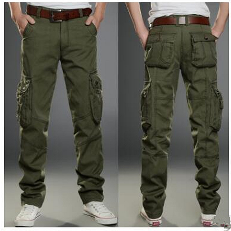 2017 Brand Mens fashion Military Cargo Pants Multi-pockets Baggy Men Pants Casual Trousers Overalls Army Pants Joggers