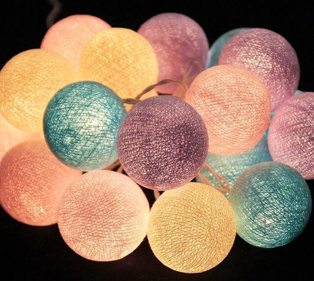 2019 nouveau design doux poney ton coton boule lumières, lumières de fées, mariage, fête, Patio, décor de noël