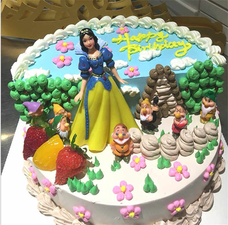 Toys Girl Princess Birthday Cake Topper Kids Child Gift Decorating Snow White Party