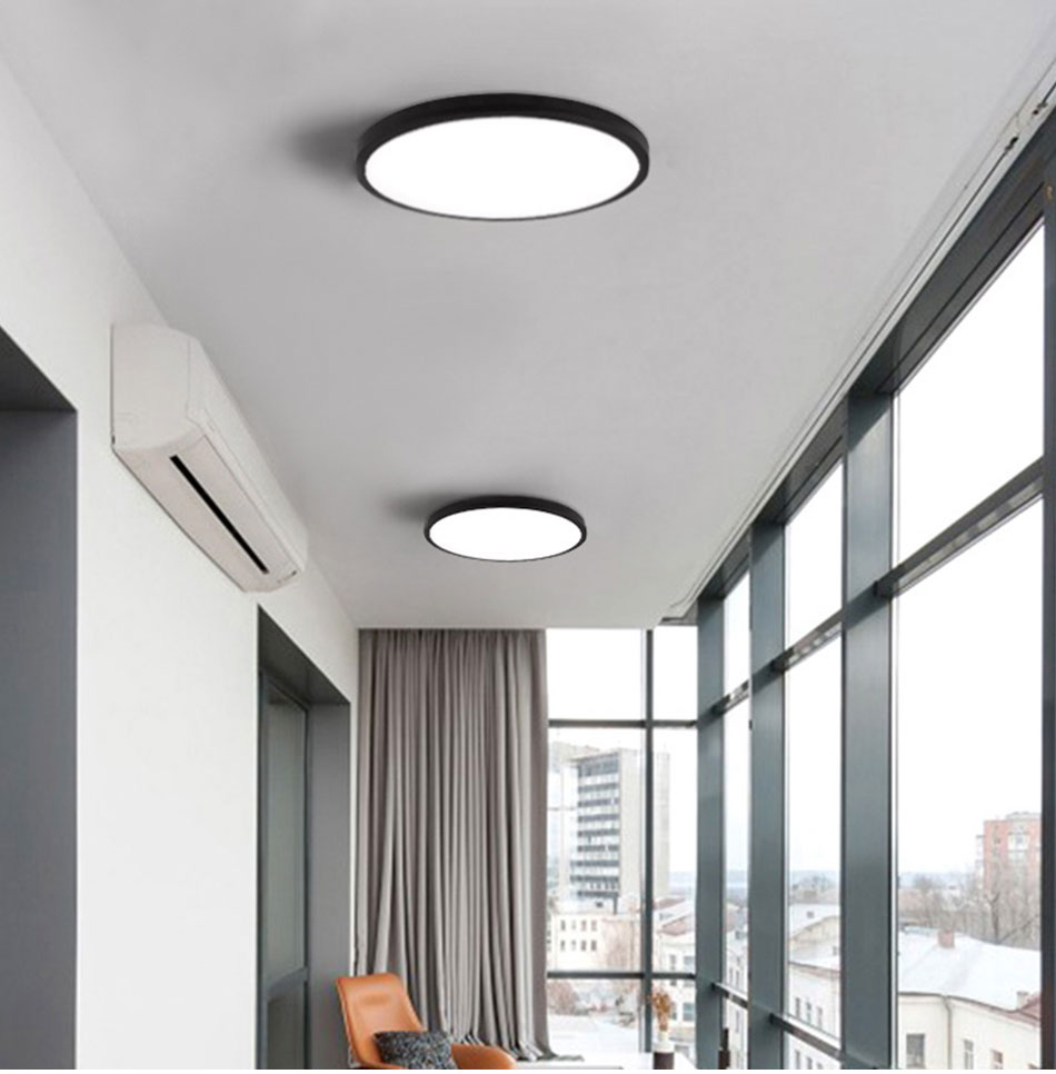 HTB1ro.3aE rK1Rjy0Fcq6zEvVXaU LED Ceiling Light Lamp Modern Lighting Fixture Bedroom Kitchen Foyer Simple Surface Mount Flush Panel Living Room Remote Control