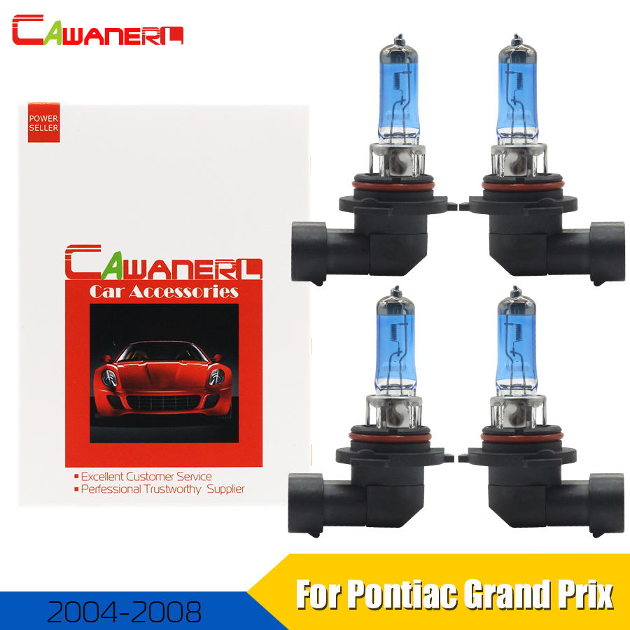Cawanerl For Pontiac Grand Prix Sedan 2004 2008 9006 9005 100w Car Halogen Bulb Headlight High Low Beam Accessories 4 Pieces