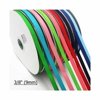 100Y Lot 3 8 9mm Hingh Quality Solid Color Grosgrain Ribbon For Gift Pack Wedding Party