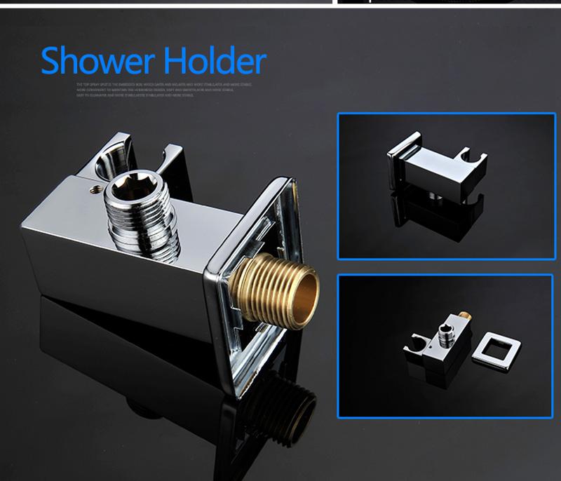 DCAN 10 Rainfall Shower Head System Polished Chrome Bath Wall Mounted Shower Faucet Bathroom Luxury Rain Mixer Shower Combo Set (41)