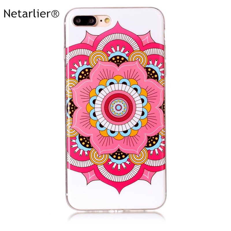 Netarlier newest case for iphone7plus/8plus classic design good quality TPU soft phone cover 5.8 inch clear color lines