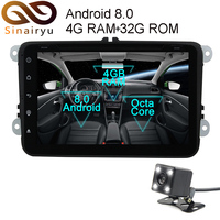 Sinairyu 2 Din Android 8 0 Octa Core Car DVD Player For VW Passat B6 B7