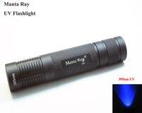Manta Ray 395nm UV LED Flashlight Small Straight Tube UV Flashlight 1x18650