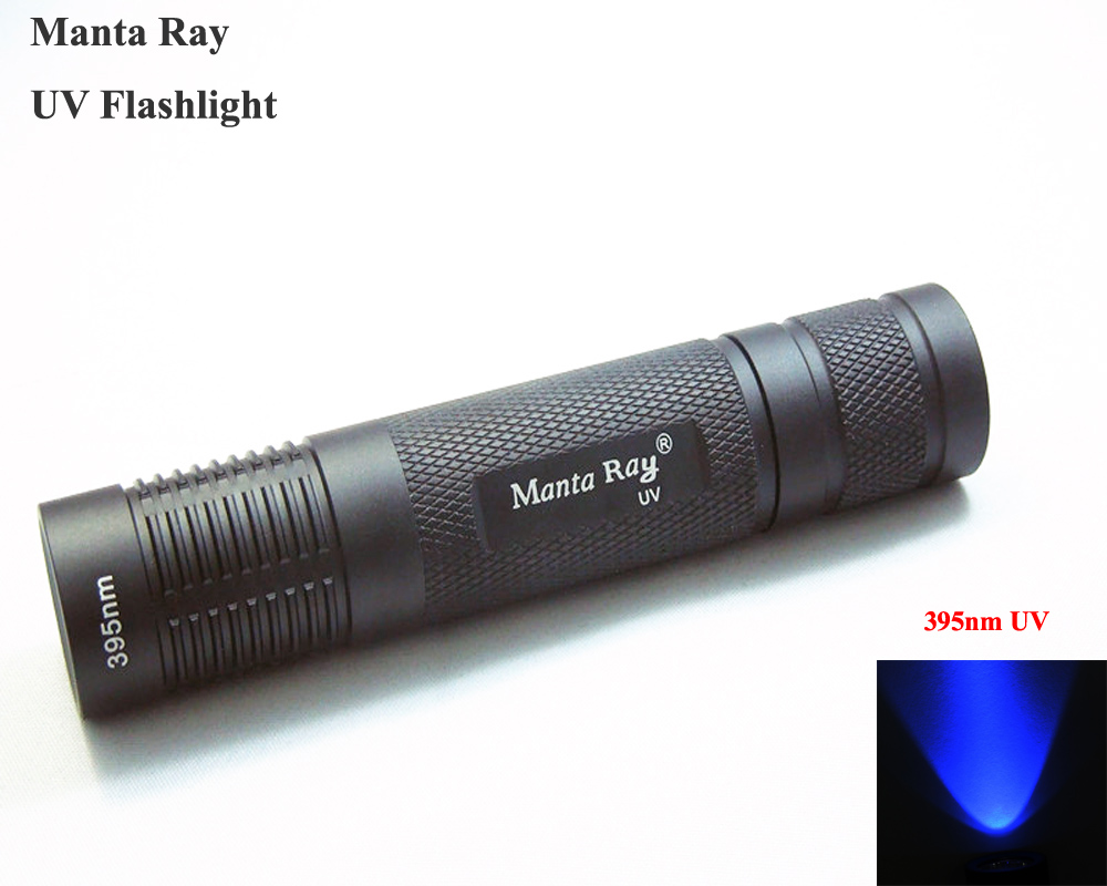 Manta Ray 395nm UV LED Flashlight Small Straight Tube UV Flashlight (1x18650)