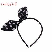 2015 Fashion Cat Ear Headbands Cute Kids & Adults Bow Dot Hair accessories Hair bands Rabbit Ear Headwear Wholesale bow back two tone cat ear hoodie