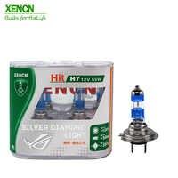 XENCN H7 12V 55W Silver Diamond Light Replacement Car Lighting Source Halogen Xenon Headlight 30% More ligh 75M Beam New 2 pcs
