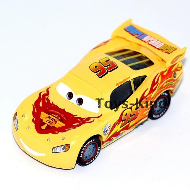 White Yellow Red Mc Queen No 95 Piston Cup Of Pixar Cars 2 Mini