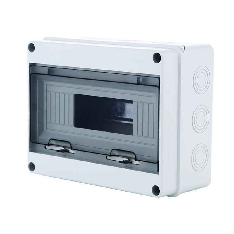 18 Way Plastic Electrical Distribution Box Waterproof MCB Box Panel Mounted Distribution Box HT Series