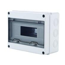 8 Way Plastic Electrical Distribution Box Waterproof MCB Box Panel Mounted Distribution Box HT Series