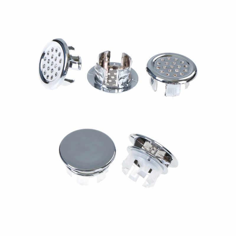2pcs/3pcs  Basin Sink Round Overflow Cover Ring Insert Replacement Tidy Chrome Trim Bathroom Accessories