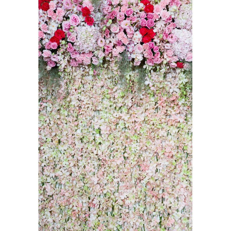 Seamless Vinyl Photography Backdrop Pink Rose Flower Wall Computer Printed Wedding Backgrounds for Photo Studio F-3138 wholesale seamless wedding wall nail strengthen invisible traceless photo hanging hook painting