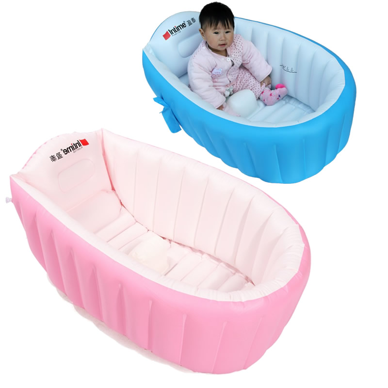 Inflatable Baby Bathtub Portable Baby Swimming Pool Inflatable Swimmingpool For Newborn Baby Bathtub Travel Child Bathtub YP03 dual slide portable baby swimming pool pvc inflatable pool babies child eco friendly piscina transparent infant swimming pools
