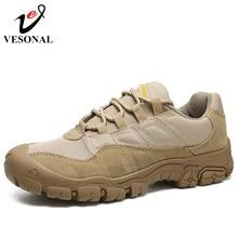 VESONAL Männlichen Turnschuhe Schuhe Für Männer Erwachsene Non Slip Casual Schuhe Outdoor reise wandern schuhe Herbst Kuh Wildleder Leder