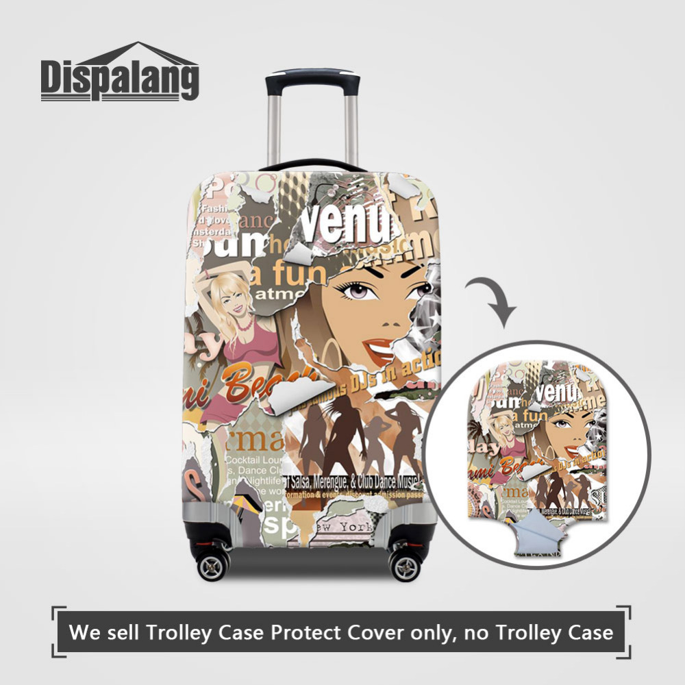 Dispalang Poster wall Womens Luggage Covers For 18-30 inch Trolley Case Graffiti Suitcase Dustproof Cover Travel Accessories ...