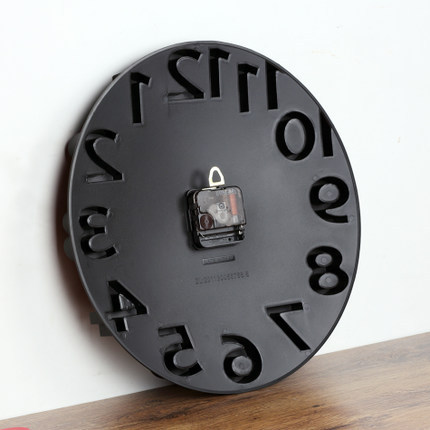 Hot Sale Wall Clock Dimensional Relief 3d Digital Clock  Fashion Brief Home Decor Wall Watch Living Room Quartz Needle 3 Colors